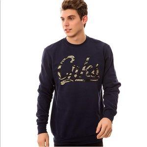 Crooks & Castles Black Camo Crewneck Sweater XL